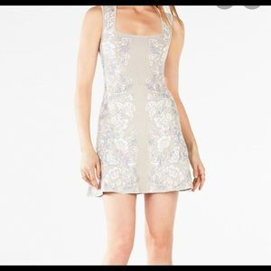 BCBGMAXAZRIA Wilma Floral Knit Jacquard Dress